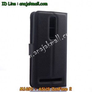 M1691-01 เคสฝาพับ ASUS ZenFone 2 (ZE551ML) สีดำ