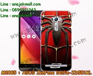 M2085-15 เคสยาง ASUS ZenFone Selfie (ZD551KL) ลาย Spider