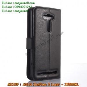 M2199-03 เคสฝาพับ ASUS ZenFone 2 Laser (ZE500KL) สีดำ