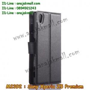 M2392-01 เคสฝาพับ Sony Xperia Z5 Premium สีดำ
