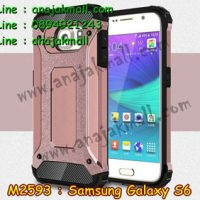 M2593-05 เคสกันกระแทก Samsung Galaxy S6 Armor สีทองชมพู