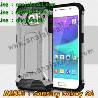 M2593-06 เคสกันกระแทก Samsung Galaxy S6 Armor สีเงิน