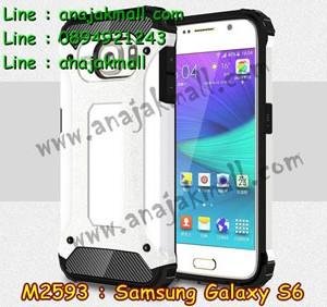 M2593-07 เคสกันกระแทก Samsung Galaxy S6 Armor สีขาว