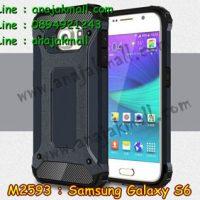 M2593-08 เคสกันกระแทก Samsung Galaxy S6 Armor สีนาวี
