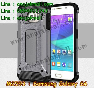 M2593-09 เคสกันกระแทก Samsung Galaxy S6 Armor สีเทา