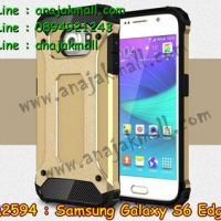 M2594-03 เคสกันกระแทก Samsung Galaxy S6 Edge Armor สีทอง