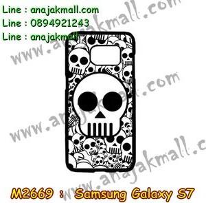 M2669-01 เคสแข็ง Samsung Galaxy S7 ลาย Multi-Skull2