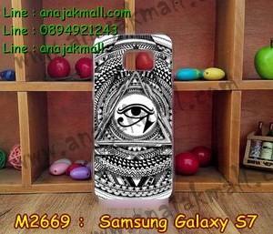 M2669-12 เคสแข็งขอบใส Samsung Galaxy S7 ลาย Black Eye
