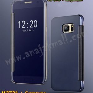 M2726-03 เคสฝาพับ Samsung Galaxy S6 เงากระจก สีม่วง