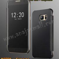 M2726-05 เคสฝาพับ Samsung Galaxy S6 เงากระจก สีดำ