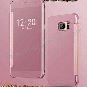 M2726-06 เคสฝาพับ Samsung Galaxy S6 เงากระจก สีชมพู