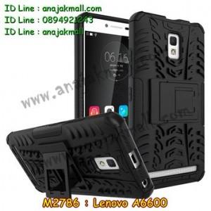 M2786-01 เคสทูโทน Lenovo A6600 สีดำ