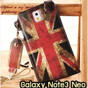 M949-09 ซองหนัง Samsung Galaxy Note3 Neo ลาย Flag I