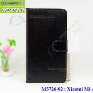M3726-02 เคสฝาพับไดอารี่ Xiaomi Mi A1 สีดำ