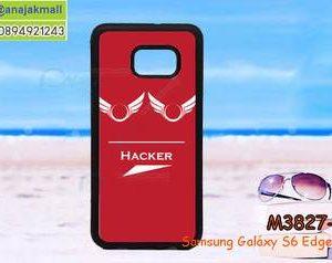 M3827-07 เคสขอบยาง Samsung Galaxy S6 Edge Plus ลาย Hacker III