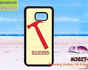 M3827-08 เคสขอบยาง Samsung Galaxy S6 Edge Plus ลาย Hammer II