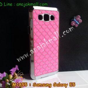 M1855-01 เคสแข็งประดับ Samsung Galaxy E5 สีชมพู