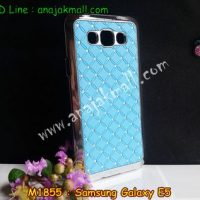 M1855-02 เคสแข็งประดับ Samsung Galaxy E5 สีฟ้า