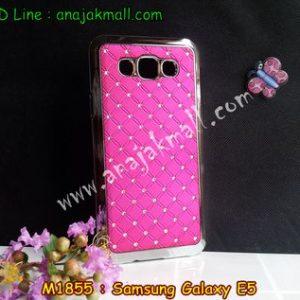 M1855-03 เคสแข็งประดับ Samsung Galaxy E5 สีกุหลาบ