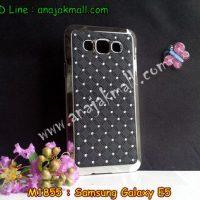 M1855-05 เคสแข็งประดับ Samsung Galaxy E5 สีดำ