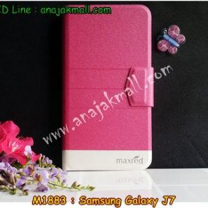 M1883-03 เคสหนังฝาพับ Samsung Galaxy J7 สีชมพู