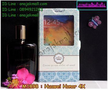 M1898-09 เคสโชว์เบอร์ Huawei Honor 4X ลาย Graphic I