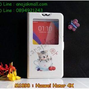 M1898-03 เคสโชว์เบอร์ Huawei Honor 4X ลาย Sweet Time