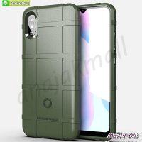 M5714-04 เคส Rugged กันกระแทก Xiaomi Redmi9a สีเขียวทหาร
