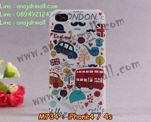 M734-23 เคสแข็ง iPhone 4S/4 ลาย London