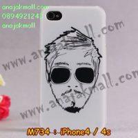M734-24 เคสแข็ง iPhone 4S/4 ลาย Mansome