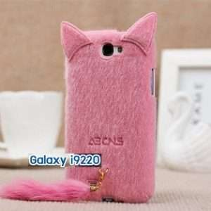 M104-01 เคสแมวมีหาง Samsung Galaxy Note สีชมพู
