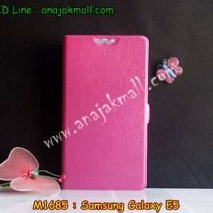 M1685-02 เคสฝาพับ Samsung Galaxy E5 สีชมพู