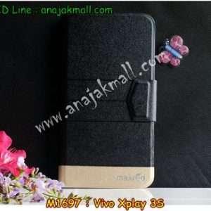 M1697-02 เคสหนังฝาพับ Vivo Xplay 3S สีดำ