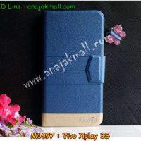 M1697-04 เคสหนังฝาพับ Vivo Xplay 3S สีน้ำเงิน