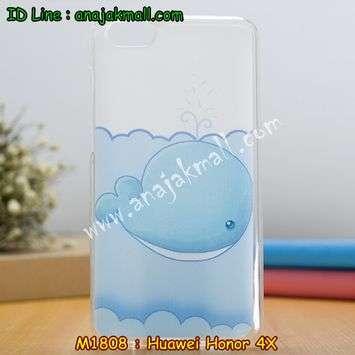M1808-09 เคสยาง Huawei Honor 4X ลายปลาวาฬ