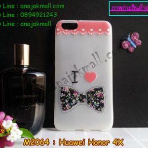 M2064-01 เคสยาง Huawei Honor 4X ลาย Love Bow