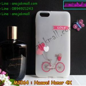 M2064-02 เคสยาง Huawei Honor 4X ลาย Love Bicycle
