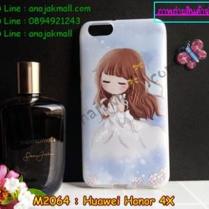 M2064-04 เคสยาง Huawei Honor 4X ลายนิเนโกะ