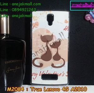 M2084-01-2 เคสแข็งใส True Lenovo 4G A2010 ลาย Happy Cat