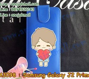 M3098-04 เคสฝาพับ Samsung Galaxy J2 Prime ลาย Love Boy