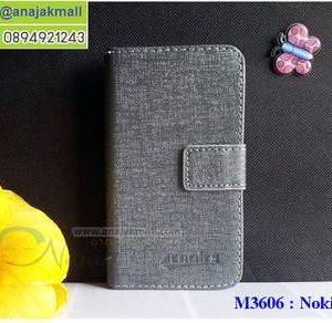 M3606-01 เคสฝาพับ Nokia6 สีเทา