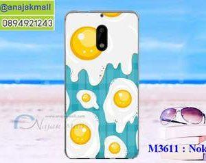 M3611-14 เคสแข็ง Nokia 6 ลาย Fried Egg