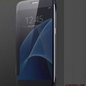 M3878-05 เคสฝาพับ Samsung Galaxy A8 Plus 2018 กระจกเงา สีดำ