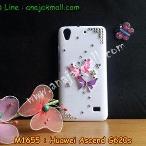 M1655-01 เคสประดับ Huawei Ascend G620S ลาย Butterfly III