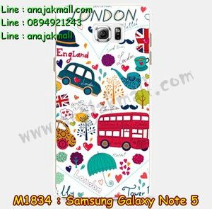M1834-16 เคสยาง Samsung Galaxy Note 5 ลาย London