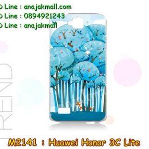 M2141-13 เคสแข็ง Huawei Honor 3C Lite ลาย Blue Tree