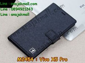 M2454-03 เคสฝาพับ Vivo X5 Pro สีดำ