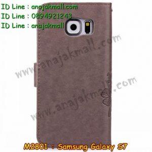 M2801-06 เคสฝาพับ Samsung Galaxy S7 สีน้ำตาลอ่อน