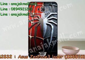 M2832-02 เคสแข็ง Asus Zenfone3 Laser - ZC551KL ลาย Spider IV