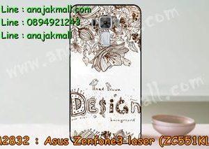 M2832-12 เคสแข็ง Asus Zenfone3 Laser - ZC551KL ลาย Design 01